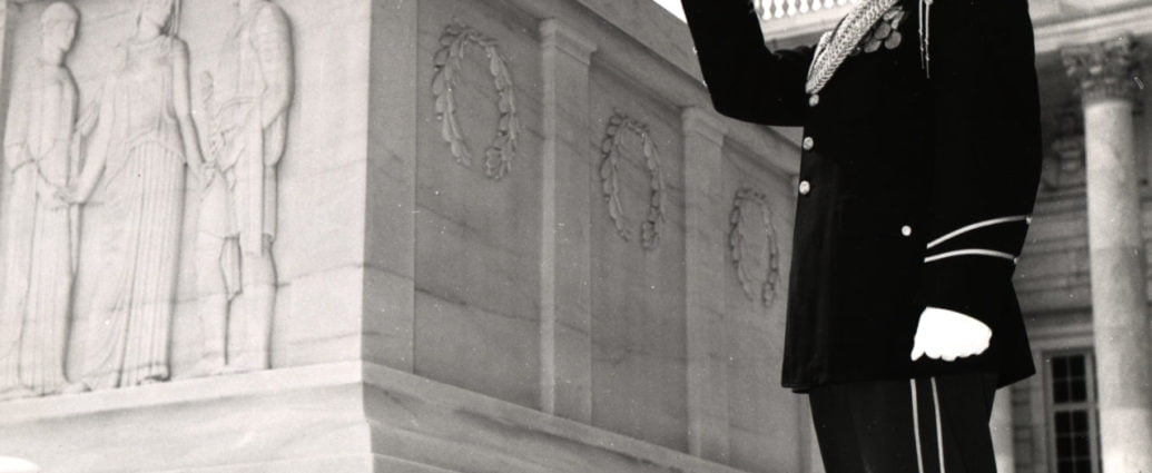 George Meyers Sounds Taps at the Tomb of the Unknowns